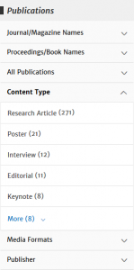 ACM DL Publications Filter Options